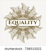 brown rosette or money style... | Shutterstock .eps vector #738513322