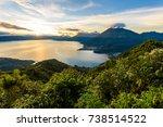 sunrise in the morning at lake...   Shutterstock . vector #738514522