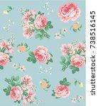 floral pattern | Shutterstock .eps vector #738516145
