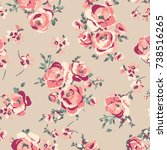 floral pattern | Shutterstock .eps vector #738516265