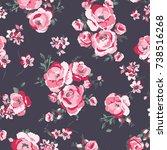 floral pattern | Shutterstock .eps vector #738516268