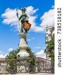 wild man statue landmark of...   Shutterstock . vector #738518182