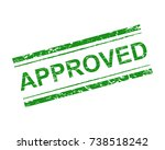 approved stamp  green isolated... | Shutterstock .eps vector #738518242