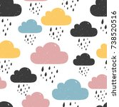 seamless pattern with colored... | Shutterstock .eps vector #738520516