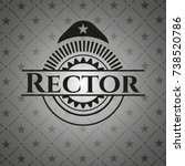 rector dark emblem | Shutterstock .eps vector #738520786
