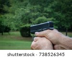 semi automatic weapon  9 mm... | Shutterstock . vector #738526345