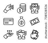 money   finance icon set | Shutterstock .eps vector #738528526