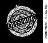 offspring chalkboard emblem... | Shutterstock .eps vector #738537502
