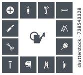 set of 13 editable tools icons. ...