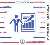 presentation sign icon. man...   Shutterstock .eps vector #738543625