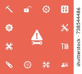 set of 13 editable tool icons....