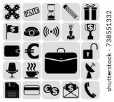 set of 22 business icons or...   Shutterstock .eps vector #738551332