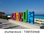 cancun  mexico  15 jul 2017 ... | Shutterstock . vector #738553468