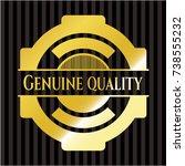 genuine quality gold emblem or... | Shutterstock .eps vector #738555232