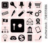 set of 22 business icons ...   Shutterstock .eps vector #738555886