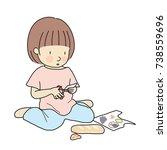 vector illustration of little...   Shutterstock .eps vector #738559696