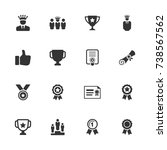 awards and achievements icons | Shutterstock .eps vector #738567562