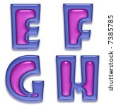 purple gel letters | Shutterstock . vector #7385785