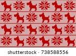 vector scandinavian christmas... | Shutterstock .eps vector #738588556