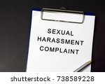 sexual harassment complaint... | Shutterstock . vector #738589228