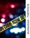 crime scene tape with red and...   Shutterstock . vector #738593176