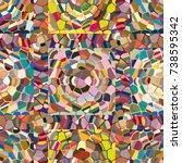 colourful seamless ornamental... | Shutterstock . vector #738595342