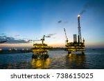 offshore production platform...   Shutterstock . vector #738615025