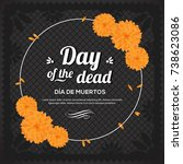 day of the dead   black copy... | Shutterstock .eps vector #738623086