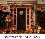 3d rendering. halloween... | Shutterstock . vector #738625222