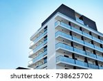 modern  luxury apartment...   Shutterstock . vector #738625702