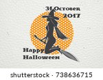 happy halloween. invitation to...   Shutterstock . vector #738636715