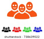 happy people group icon. vector ... | Shutterstock .eps vector #738639022