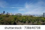 beautiful blue sky   osaka view | Shutterstock . vector #738640738