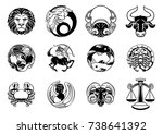 zodiac astrology horoscope star ... | Shutterstock .eps vector #738641392