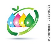 green product logo isolated ...   Shutterstock .eps vector #738645736