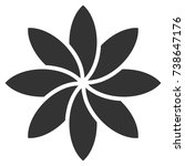 abstract flower vector icon....   Shutterstock .eps vector #738647176
