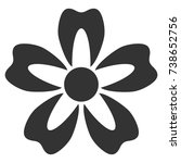 flower vector icon. style is...   Shutterstock .eps vector #738652756