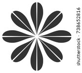 flower vector icon. style is...   Shutterstock .eps vector #738652816