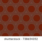 abstract repeat backdrop.... | Shutterstock . vector #738654352