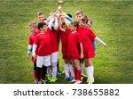 kids soccer football   young... | Shutterstock . vector #738655882