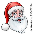 santa claus cartoon character ... | Shutterstock .eps vector #738671926