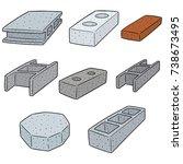 vector set of concrete... | Shutterstock .eps vector #738673495