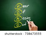 fomo   fear of missing out ... | Shutterstock . vector #738673555