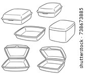 vector set of foam container | Shutterstock .eps vector #738673885