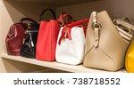 collection of handbags in woman ...   Shutterstock . vector #738718552