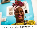 brazilian woman of african... | Shutterstock . vector #738719815