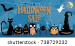 lovely stylized and textured...   Shutterstock .eps vector #738729232
