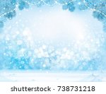 vector blue  christmas  winter  ... | Shutterstock .eps vector #738731218