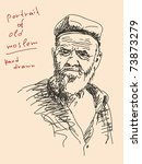 hand drawn portrait of old...