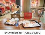 saint petersburg   circa... | Shutterstock . vector #738734392